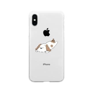 まったりわんこ Soft clear smartphone cases