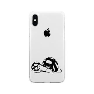 かめきち&ちびきち Soft clear smartphone cases