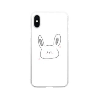 うさ(ぎ)さん Soft clear smartphone cases