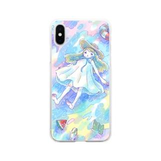 夏の走馬灯 Soft clear smartphone cases