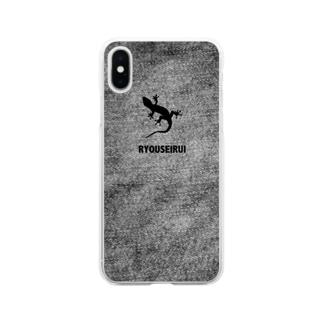 イモリのスマホケース Soft clear smartphone cases