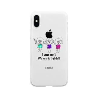 ドットガールちゃん Soft clear smartphone cases