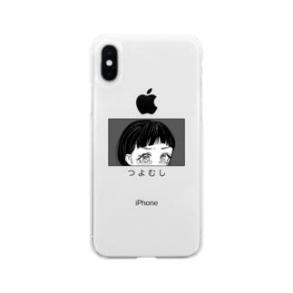 つよむしちゃん Soft clear smartphone cases
