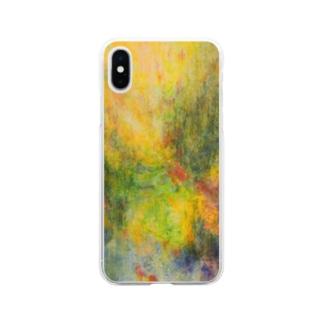 金色の雨 Soft Clear Smartphone Case