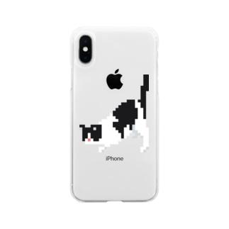 しりぽんねこ 2 Soft clear smartphone cases