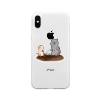 穴掘りの匠~ウォンバットさんといっしょ~ Soft clear smartphone cases