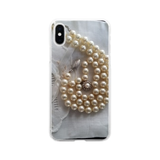 pearlⅩⅥ Soft clear smartphone cases