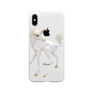 生まれたてのユニコーン Soft clear smartphone cases