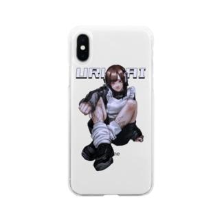 反抗期メイド Soft clear smartphone cases
