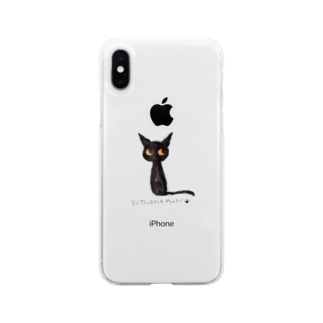 tsubasamoonの黒猫ムーン NEW Soft clear smartphone cases