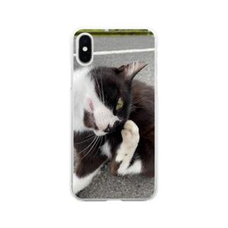 ねこのゴンちゃん Soft clear smartphone cases