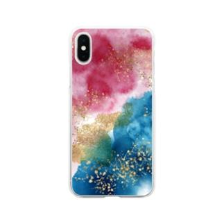 永遠に交わらない二人。 Soft clear smartphone cases