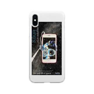 ゑ〆  宇宙の日常の縦長ver宇宙の日常 自撮り Soft clear smartphone cases