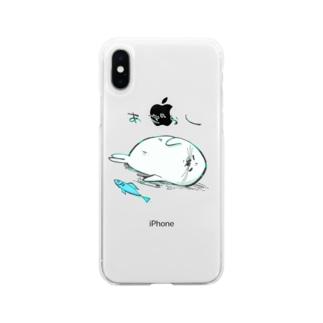 あざらしくん Soft clear smartphone cases