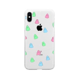 うんちゃん Soft clear smartphone cases