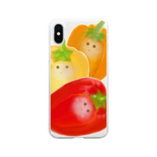 パプリカ3つ Soft clear smartphone cases