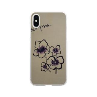 謎の花 Soft clear smartphone cases