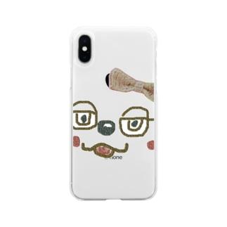 どうぶつ Soft clear smartphone cases