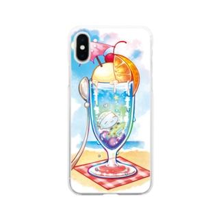 夏の妖精さん Soft clear smartphone cases