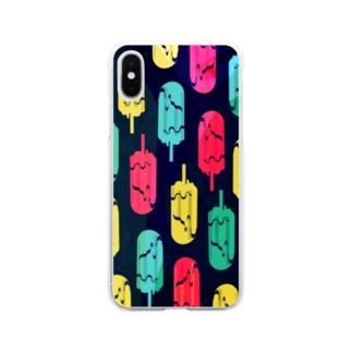 アイスキャンドルゴースト Soft clear smartphone cases