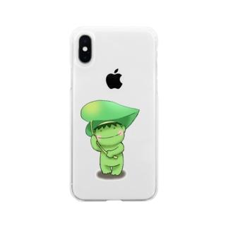 ふきもちカッパ Soft clear smartphone cases