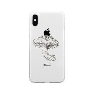 シイタケ Soft clear smartphone cases