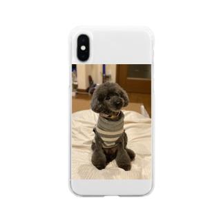 トイプードル ヴァンくん Soft clear smartphone cases