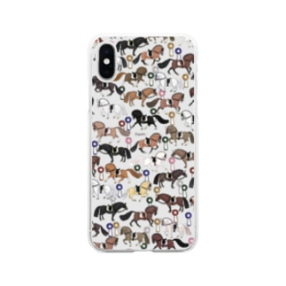 馬場馬術 Soft clear smartphone cases