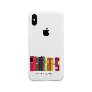 本棚とピカソ Soft clear smartphone cases