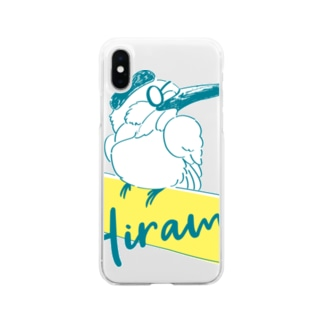 枚方モルックの会(BLUE) Soft clear smartphone cases