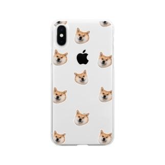 たくさんの犬たち Soft clear smartphone cases