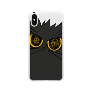 気まぐれ猫系店の鬼気迫る時雨 Soft clear smartphone cases