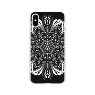 闇のレース シリーズ Soft clear smartphone cases