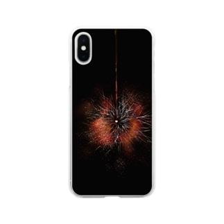 線香花火 Soft clear smartphone cases