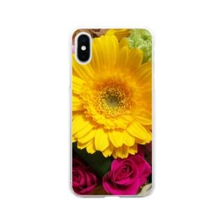 はなたば(春先) Soft clear smartphone cases