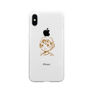 男の子1 Soft clear smartphone cases