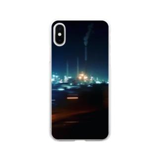 旅 山口県-夜 Soft clear smartphone cases