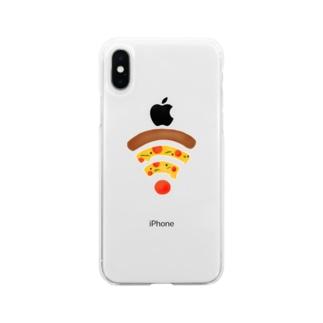 ペパロニピザのWiFi Soft clear smartphone cases