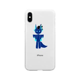かわいいかいじゅう Soft clear smartphone cases