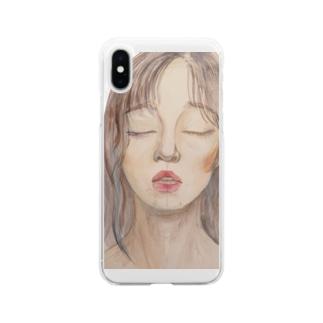 絵のティシャツ Soft clear smartphone cases