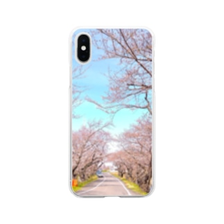 さくら20 Soft clear smartphone cases