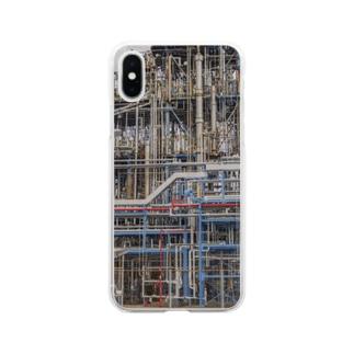 配管スマホケース Soft clear smartphone cases