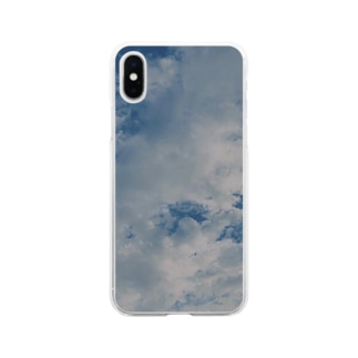 空と雲 Soft clear smartphone cases