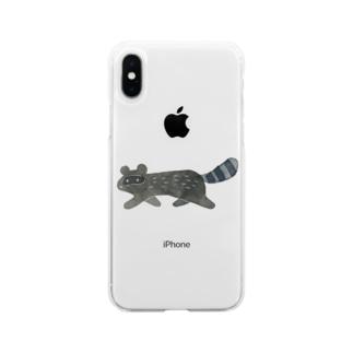 さかさかたぬき Soft clear smartphone cases