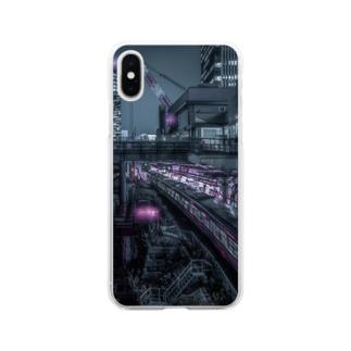 Night city スマホケース Soft clear smartphone cases
