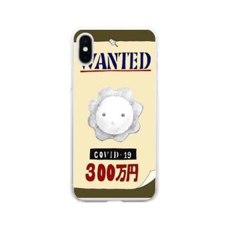 指名手配犯 COVID-19 Soft clear smartphone cases
