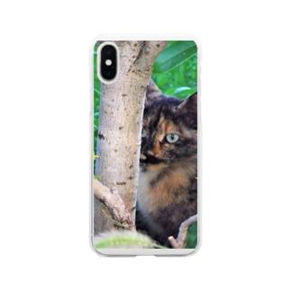 見てるよ Soft clear smartphone cases