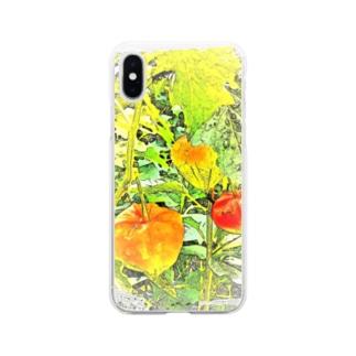 ほおずき Soft clear smartphone cases