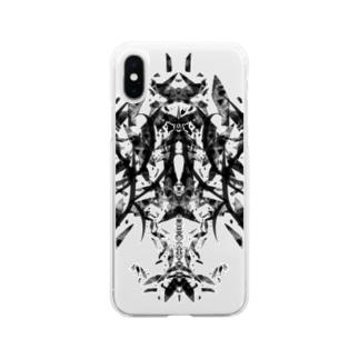 フラグメント(黒ver) Soft clear smartphone cases