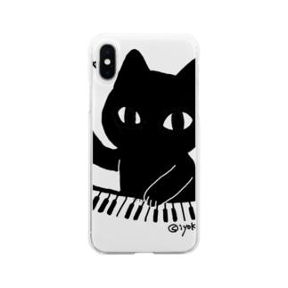 ジャーンねこ Soft clear smartphone cases